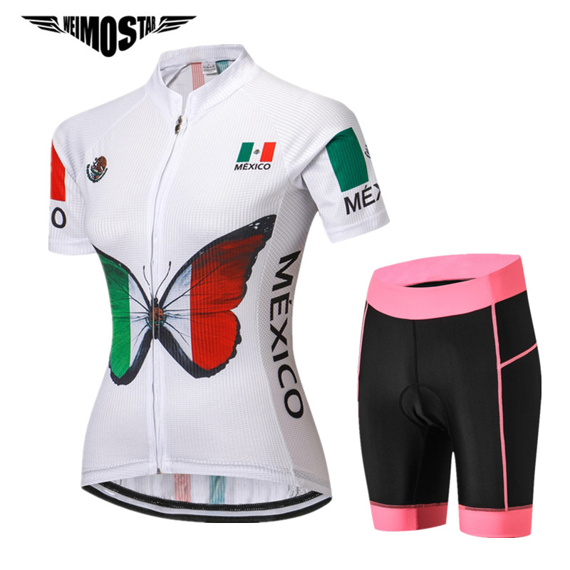 Weimostar 2018 Mexico Women Cycling Jersey Sets Pro Team Racing Short Bicycle Clothing Ropa Ciclismo Quick Dry mtb Bike Jersey veobike 2018 pro team summer big cycling set mtb bike clothing racing bicycle clothes maillot ropa ciclismo cycling jersey sets