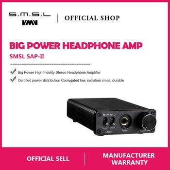 Amplificador de Auscultadores SMSL SAP II Portátil TPA6120A2 Grande Poder De Alta Fidelidade Fidelity Stereo Headphone Amplifier com 2 Maneiras entradas do interruptor