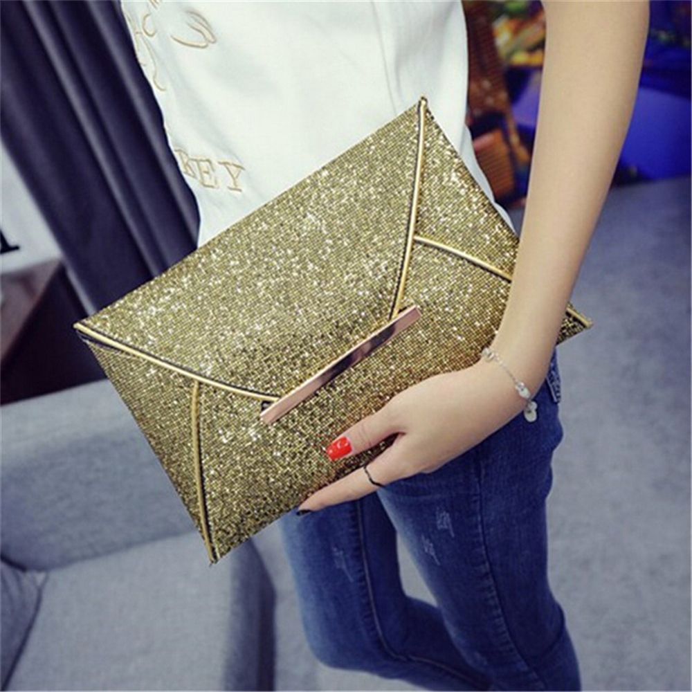 Clutch Purse Handbags Envelope-Bag Top-Quality Sequins Women Fashion Package Hot