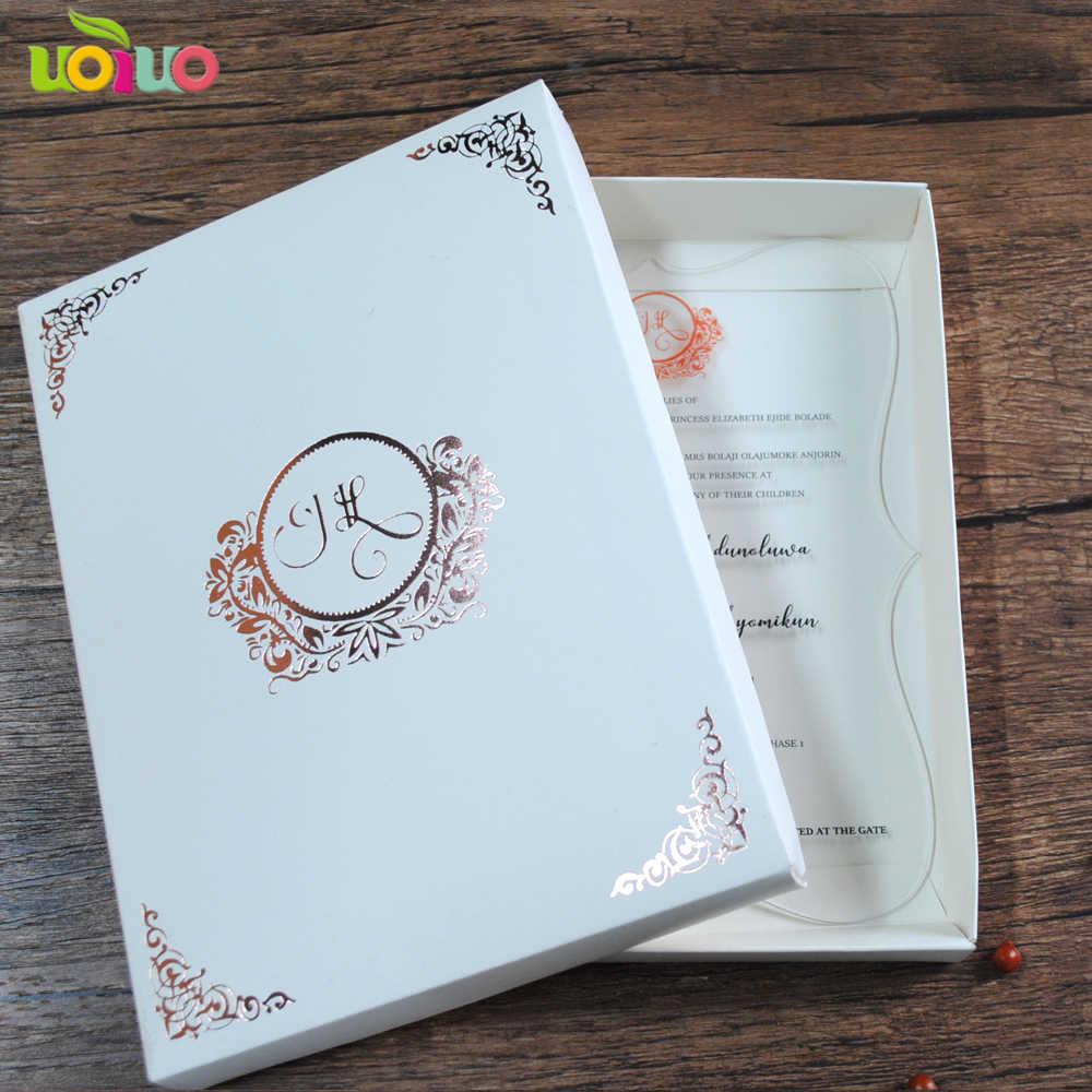 50pcs laser cut 3d luxury wedding invitation card box bengali wedding invitation card with customization print
