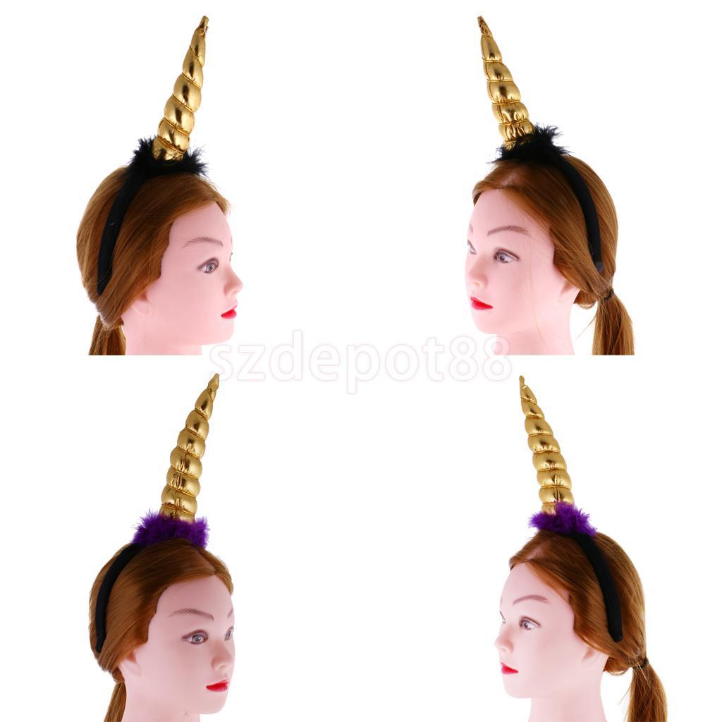 Unicorn Horn Costume Accessories Girls Headband Hairband Funny Party Fancy Dress