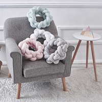 Ins Knot ball Bed Sofa Pillow hand knotted Creative Ball Nordic Woven Ball Cushion Party Home Decor