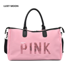 Top Quality Pink Travel Bags Large Capacity Women Tote Duffle Bag Luggage Travel Male Female Nylon Folding Trip Shoulder Bag