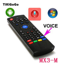 MX3 Air Mouse with microphone TV remote Wireless Mini Keyboard 2.4Ghz For mini pc HTPC Laptop Smart TV For T95 X96 TV Box(China)