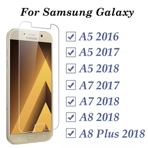 protective glass on the for samsung a8 2018 glas for samsung galaxy a5 2017 glass a5 a7 a8 plus 2018 2016 2017 tempered screen(China)