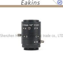 3.0MP HD без искажений 1/2 «ccd 6-12 мм промышленных Камера объектив видеонаблюдения C-Крепление объектива для HDMI, VGA, USB видео микроскоп Камера