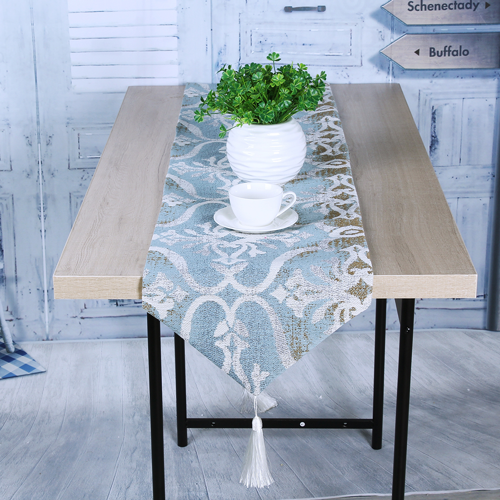 Table Cloth table runner Flower Floral Wedding Tablecloth Party Wedding Decoration Blossom Table Runners Cloth Cover
