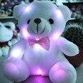 Новый 20 СМ Красочные Светящиеся Teddy Bear Световой Плюшевые Игрушки Фаршированная Teddy Bear Куклы Девушка Детские Прекрасные Подарки для Детей