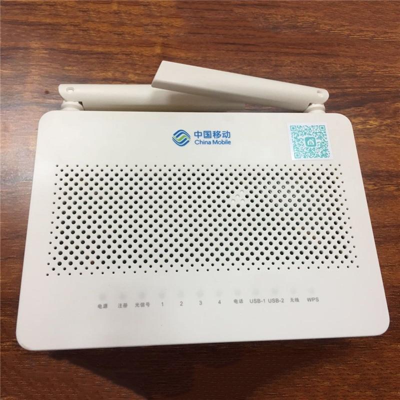 Venda QUENTE HUAWEI FTTH ONT GPON onu HS8546V5 4GE 4 Porto + 1TEL + 2USB Com 2.4G & 5G Dual-Band Wi-fi, inglês Interface Com Logotipo Móvel