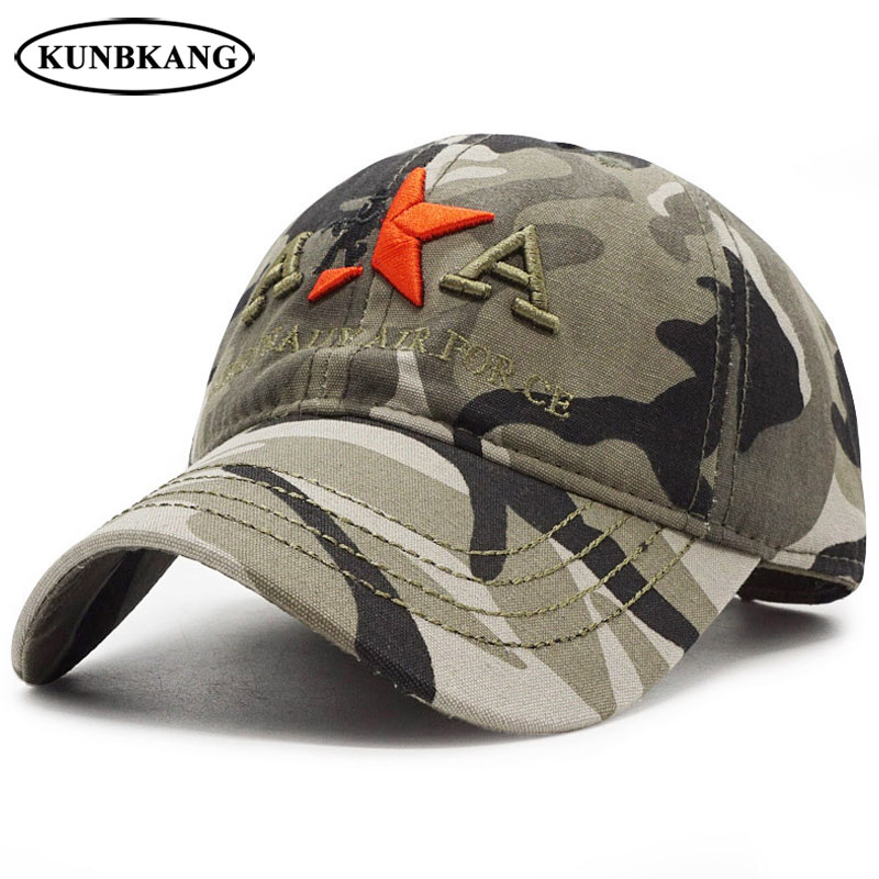 c294b5689b6 Army Camouflage Tactical Cap Men Baseball Caps Embroidery Star Solider Hat  Dad Bone Male Sports NAVY