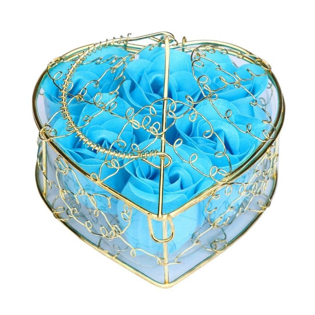 6Pcs Scented Rose Flower Petal Bath Body Soap Wedding Party Gift Home DIY Decoration