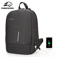 Kingsons 13.3 inch High Quality Chest Backpack For Men Women Casual Crossbody School Bag Casual Style Travel Business Backpack