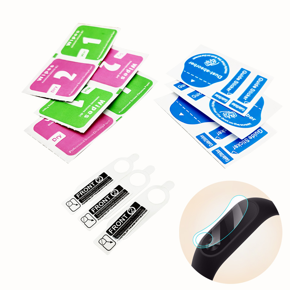 Screen Protectors 3pcs for Xiaomi Mi Band 2 Free Shipping HD Ultra Thin Anti-scratch Wristband Screen Protective Film цена