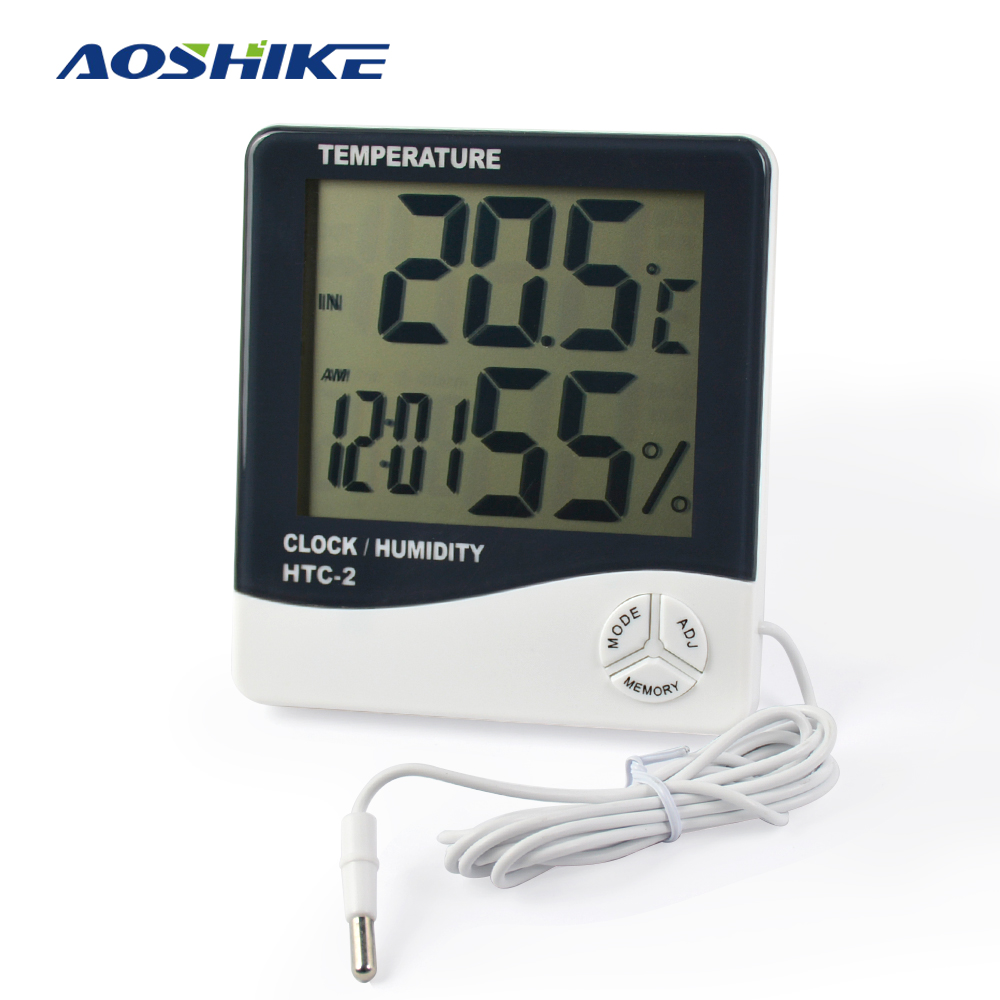 1pc HTC-2 digital thermometer LCD Temperature hygrometer Humidity Meter