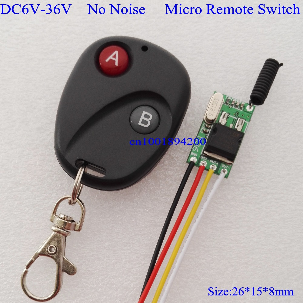 DC6V-DC36V Micro Remote Control Switch Mini Receiver Wide DC6V 7.4V 8.4V 9V 10V 12V 24V 36V Car Fuel Pump Line Remote Controller free shipping 3v 0 2a 12000rpm r130 mini micro dc motor for diy toys hobbies smart car motor fod remote control car