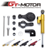 GT Motor Motorcycle Full set CNC Steering Damper Stabilizerlinear Stabilizer Bracket kit For YAMAHA YZF R1 02 16 R6 2006 2016