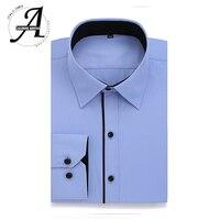 Alimens Gentle Men S Dress Casual Shirt Long Sleeve Plus Size 8xl 7xl 6xl High Cotton