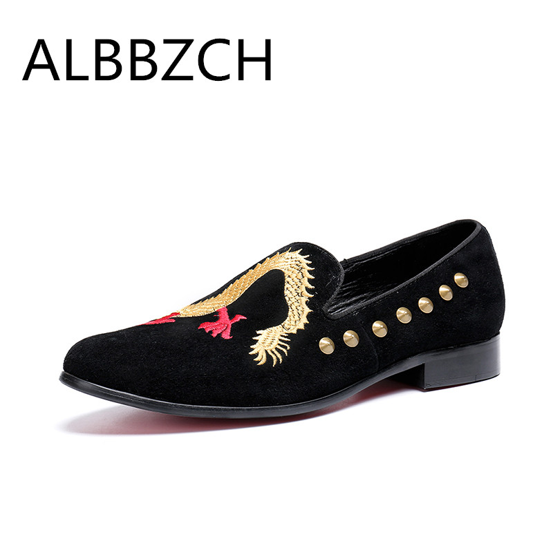 Black Embroidered Men Loafers Flats Dress Shoes Male Loafers Casual Wedding And Party Leather Oxford Shoes Slip On Big Yards 46Black Embroidered Men Loafers Flats Dress Shoes Male Loafers Casual Wedding And Party Leather Oxford Shoes Slip On Big Yards 46