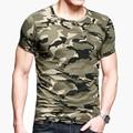 Camuflaje camiseta de Los Hombres de Algodón Delgado camisetas Hombres de Manga Corta Camiseta Casual Para Hombre o Cuello de La Manera 2017 de Gran Tamaño Grande 3XL Wholesale