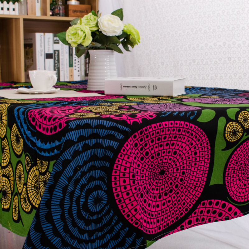 Hot Ethnic wind printing tablecloth Canvas party table cloth waterproof cover towel rectangular for children brush room dinner