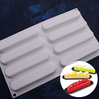 8 Holes New DIY Baking Non Stick French Dessert Mousse Silicone Cream Mould White Pastry Cake
