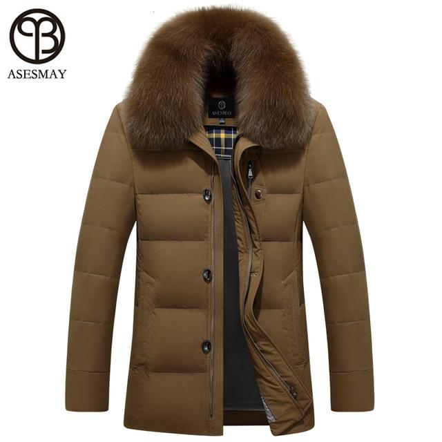 R$ 940.58 |Asesmay 2017 moda masculina casacos de inverno roupas de marca wellensteyn jaqueta homens casaco de inverno jaqueta casual grosso outwear