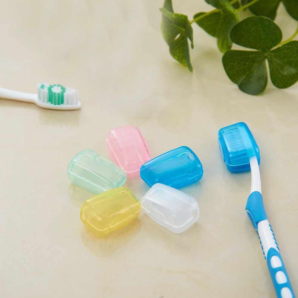 Gorąca sprzedaż 5 sztuka zestaw przenośna podróżna szczoteczka do zębów pokrywa szczotka do mycia Cap Case Box szczoteczki do zębów Protector drop shipping