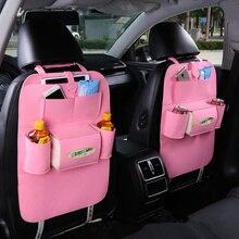 Детская тележка для покупок, универсальный органайзер, сумка для хранения на заднем сиденье, Детская безопасная сумка для заднего сиденья автомобиля, чехлы для сидений в корзину