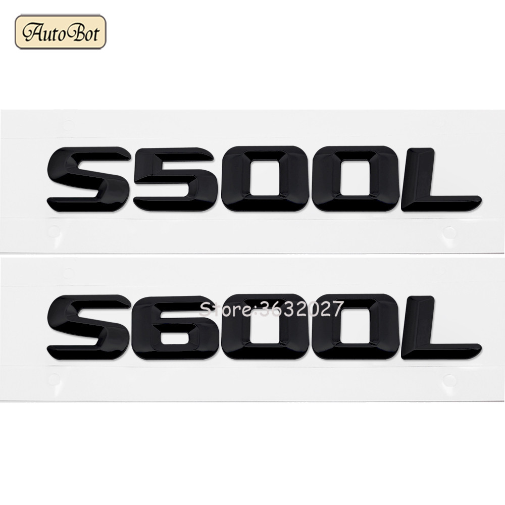 3D ABS Auto Car Emblem Badge Rear Trunk Logo Sticker For Mercedes Benz S500L S600L 220SE W111 W116 W126 W140 W220 W221 W222 1pcs car styling 5d led rear emblem car logo light badge bulb for mercedes w221 s350 s300l
