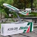 AIRCRAFT MODELS 1:200 PLANE AIRBUS A330-200 AEROBUS ALITALIA AIRLINER REPLICA