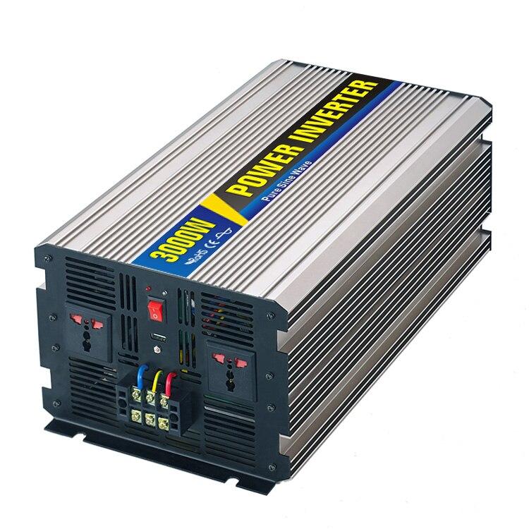 Peak power dual 3000W pure sine wave inverter dc 12V/24V to ac 110V/220V Pure Sine Wave Inverter