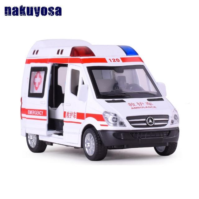 Alloy Car Model 15cm Mercedes Benz Prado Ambulance Police Car