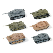 Mini Tank Military Scene Ornaments World Action Figures For Children Jigsaws Creative DIY Adult/Children toys Perfect details(China)