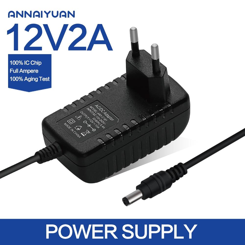 1PCS 12V2A AC 100V 240V Converter Adapter DC 12V 2A 2000mA Power Supply EU Plug 5