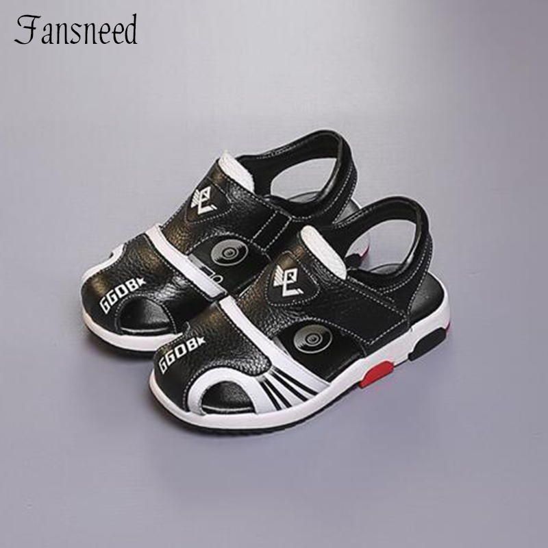 2018 new childrens shoes Boys sandals summer boys genuine leather sandals beach children sandals student shoes