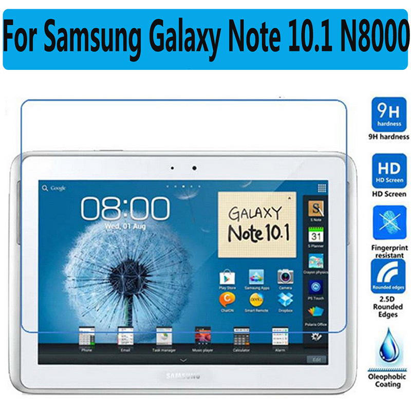 HD Tempered Glass For Samsung Galaxy Note 10.1 N8000 N8010 Tablet Screen Protector Film Premium For Samsung Note 800 Glass Film bluetooth keyboard for samsung galaxy note gt n8000 n8010 10 1 tablet pc wireless keyboard for tab a 9 7 sm t550 t555 p550 case