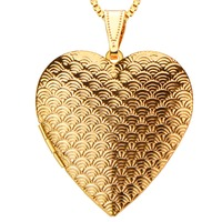 New Vintage Trendy Heart Pendants Jewelry 24k Gold Plating Put In Solid Perfume Or Pictures Necklace