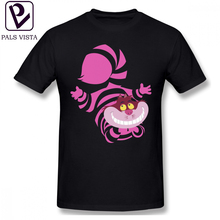 Cheshire Cat T Shirt De Su Art The T-Shirt Plus size  Classic Tee Fun Short Sleeve 100 Percent Cotton Tshirt
