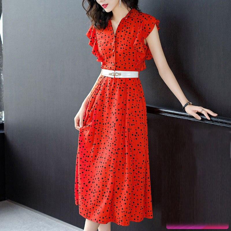Vestidos 2018 Europe Summer Maxi Dress Women Dresses Ukraine Fashion V Neck Elegant Printing Flounce Sleeveless Dress Plus Size