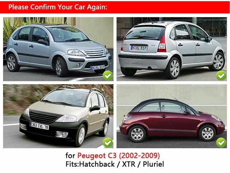 Lfldmj Copri Maniglia cromati per Porte Trim Set Hatchback Pluriel per Citroen C3 Mk1 2002 2003 2004 2005 2006 2008 2009