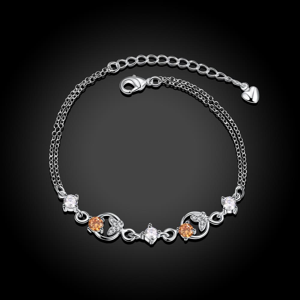 Cz Butterfly Bracelets for Women Silver Plated Bracelet Femme Pulseras Mujer Pulseira Bracciali Armbanden Pulceras Braslet H010