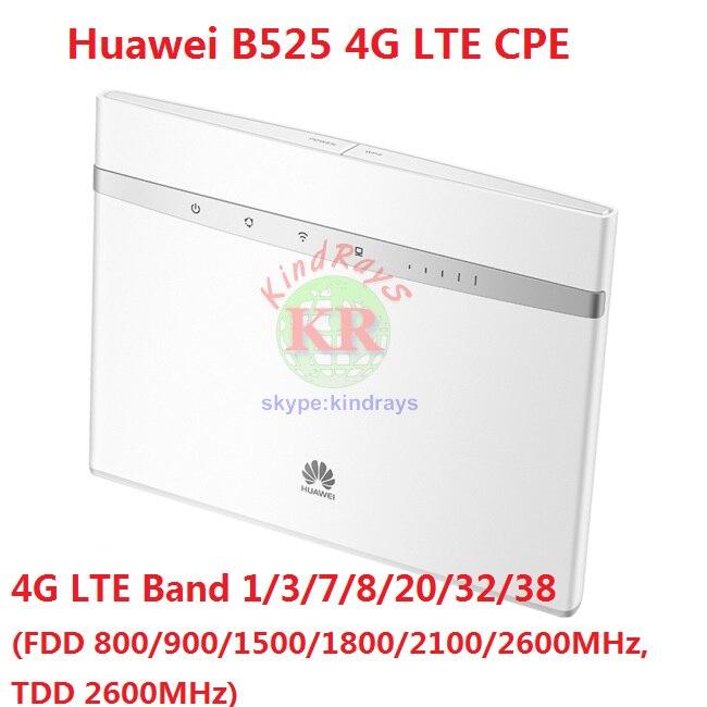 Débloqué Huawei B525 B525s-23a 4g LTE CPE Wifi Routeur avec SIM Card Slot Bande 1/3/7 /8/20/32/38 PK B315 b528 e5186 e5787