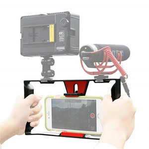 Image 3 - Smartphone Video Rig Smartphone Filmmaking Recording Vlogging Cell Phone Movies Mount Stabilizer for iPhone Xs XR X 8 7 Plus