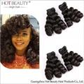 8A Brazilian Virgin Aunty Funmi Human Hair, Funmi Romance Curl Double Drawn Human Hair 1pc Natural Color