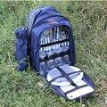 Saco quatro pessoas piquenique saco do piquenique talheres portátil conjunto de saco de viagem ao ar livre camping piquenique multifunções acampamento panelas