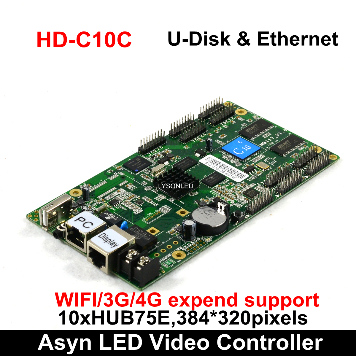 Huidu HD C15 HD C15C Asynchronous Full Color LED Video Controller 384*320 pixels, Compatiable with HD R501/R5018 Receiving Card-in LED Displays from Electronic Components & Supplies    1