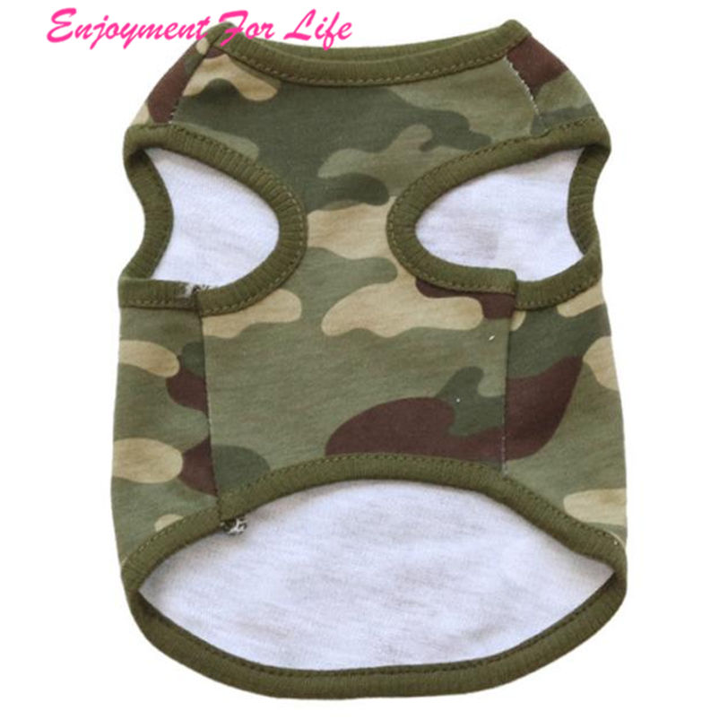 Woodland Camouflage Cotton Wholesale Superior Quality Hot Sale Vest Dog Clothes Teddy Pet Clothing Free Shipping Jan 17