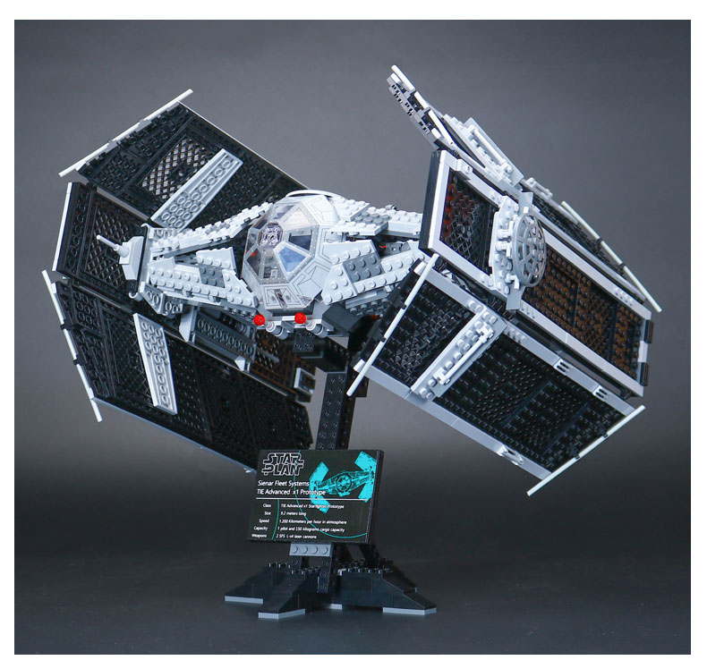 LEPIN 05055 Star 1212Pcs Wars Vader TIE advanced fighter aircraft Model Building Blocks Bricks toy Compatible to Children Toys lepin 05055 1212pcs star wars vader tie advanced fighter building block toys figure gift for children compatible legoe 10175