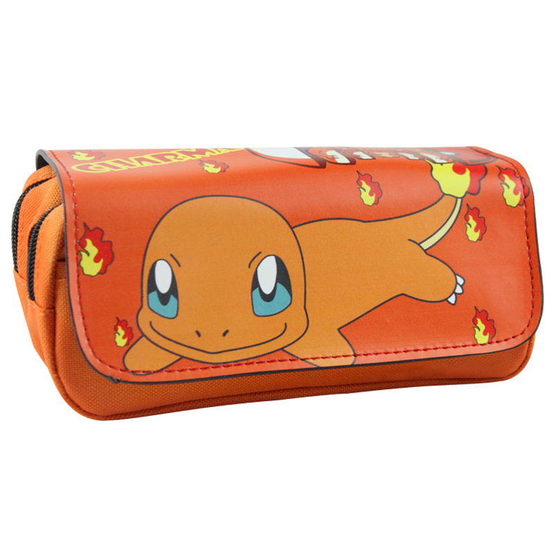 Charmander Anime Cartoon Cosmetic Cases Pocket Monster Boy Girl Stationery Bag Pencil Case Bag For Gift