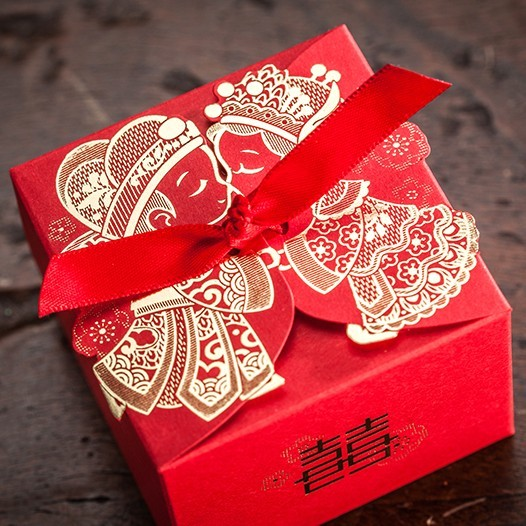 Traditional Chinese Wedding Gifts: Cheap Wedding Favor Boxeswith Ribbon Red Chinese Wedding